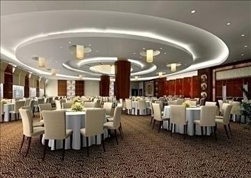 restaurant 043 3d model 3ds max 90311