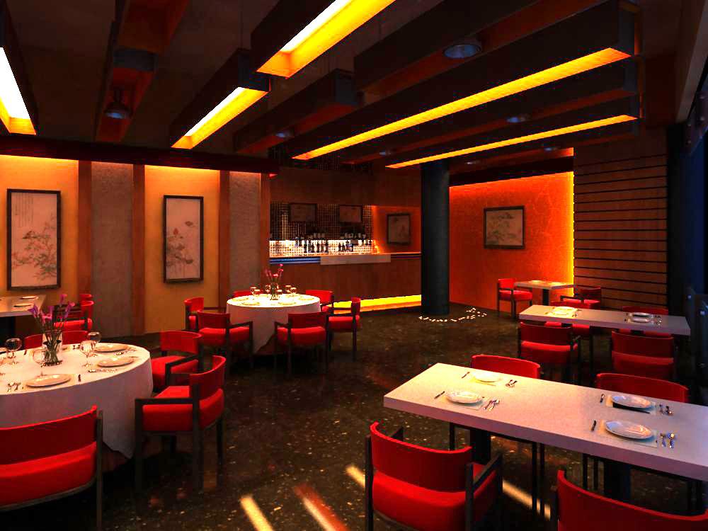restaurant 047 two 3d model max 145387