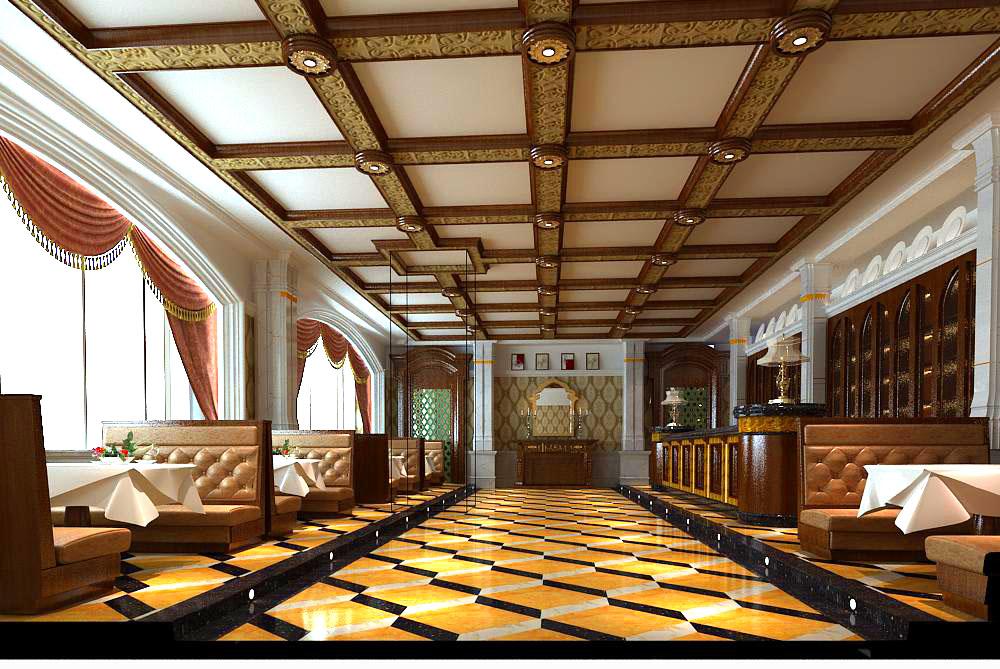 restaurant 053 3d model max 145399