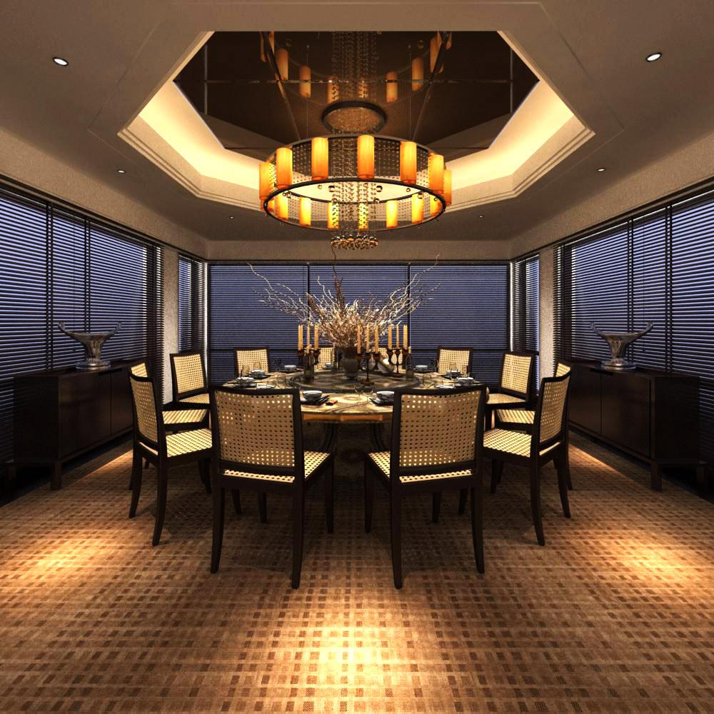restaurant 064 two 3d model max 137713