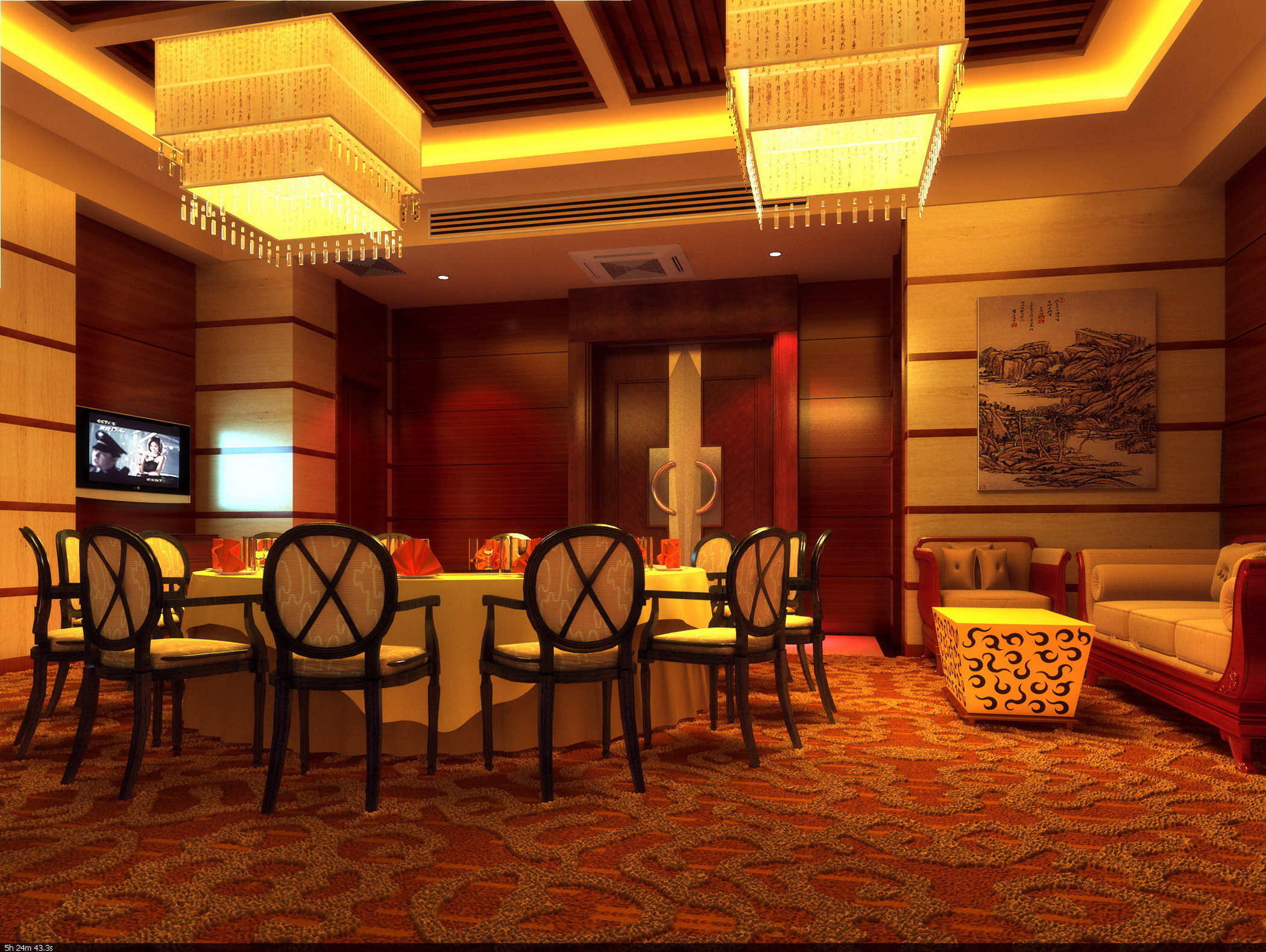 restaurant 065 3d model max 145429