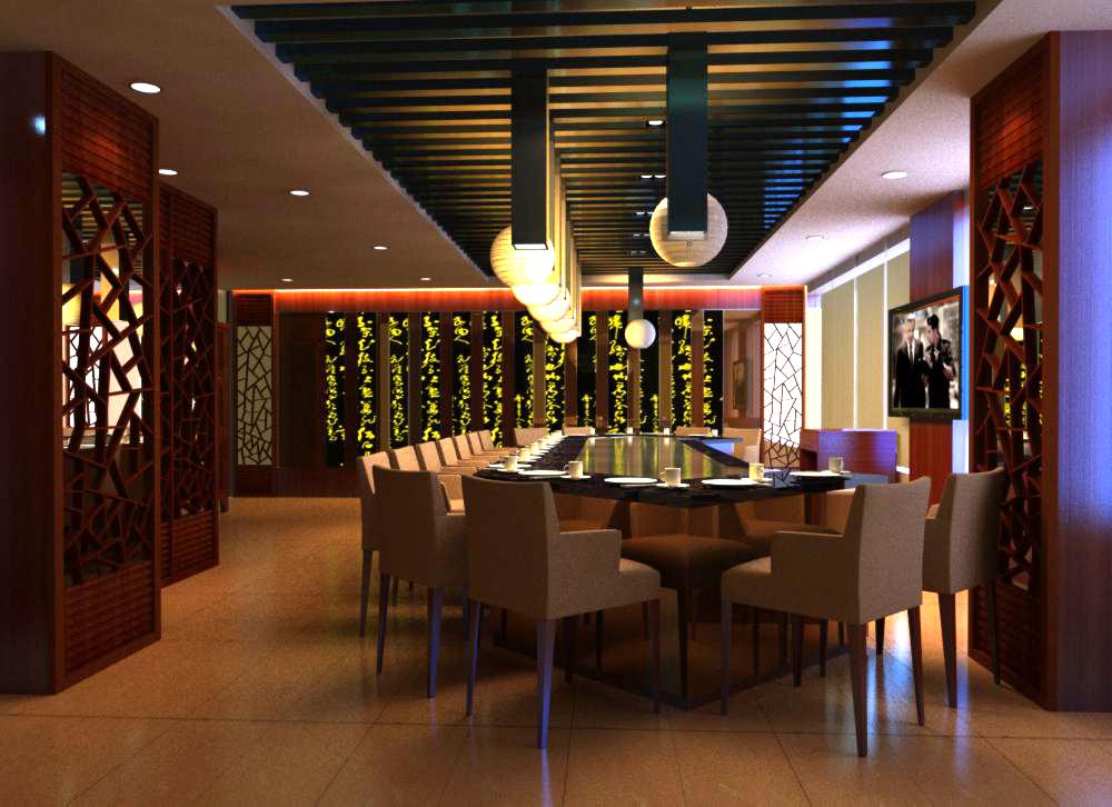 restaurant 085 two 3d model max 137759