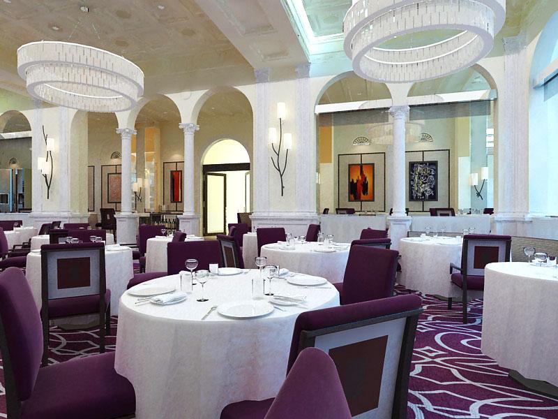 restaurant 092 3d model max 122209