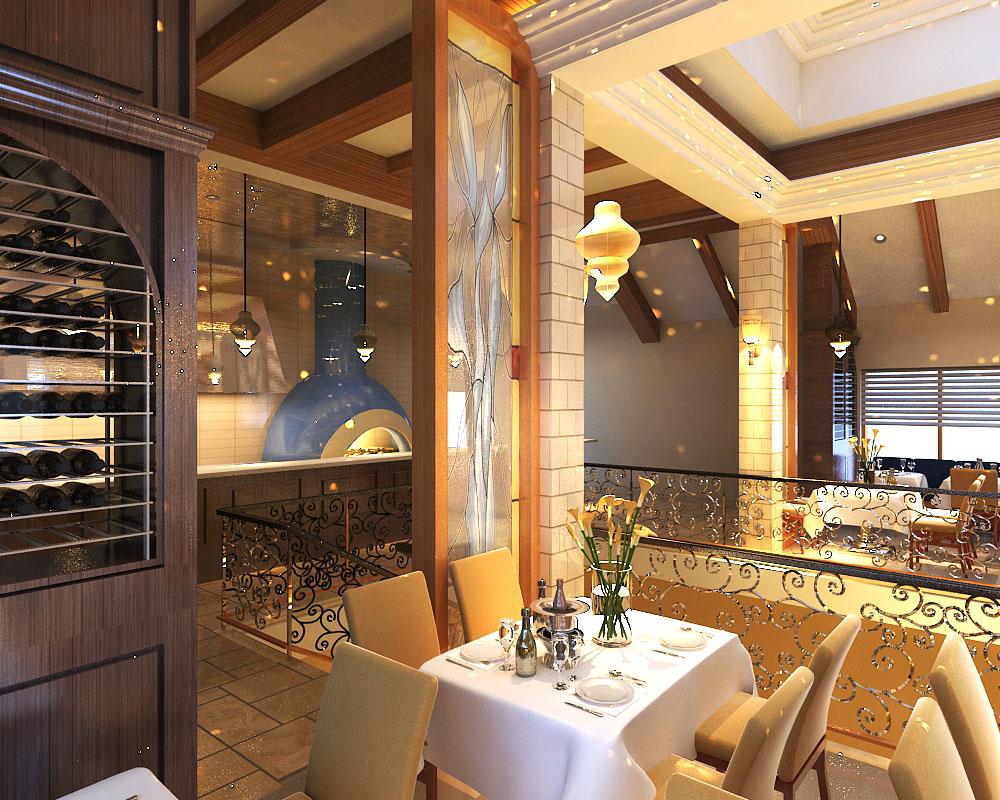 restaurant 094 3d model max 122211