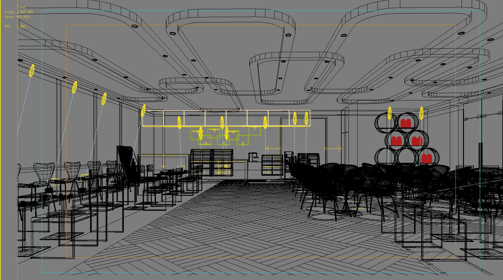 restaurant 102 3d model max 137791