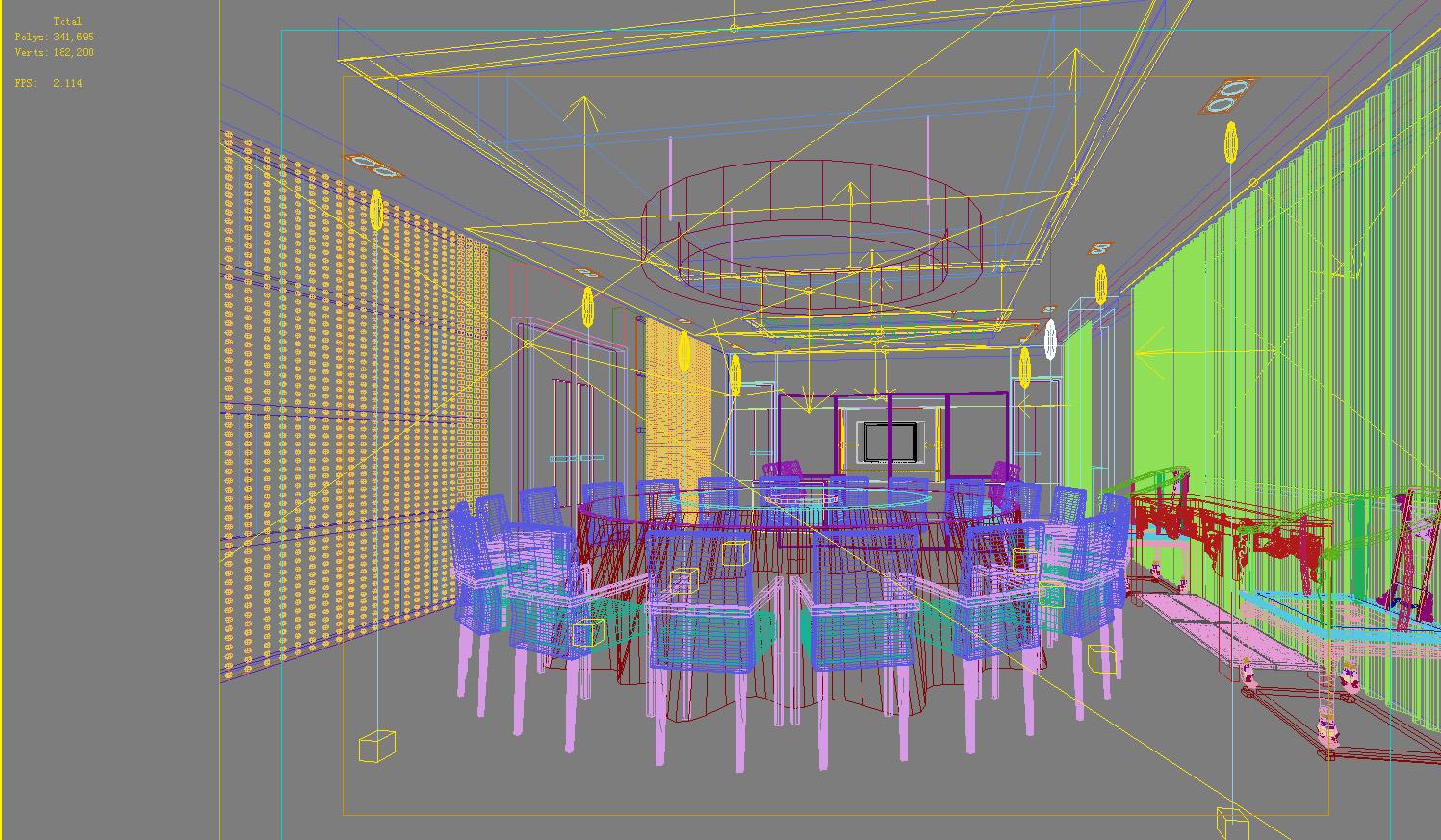 restaurant 111 3d model max 137809