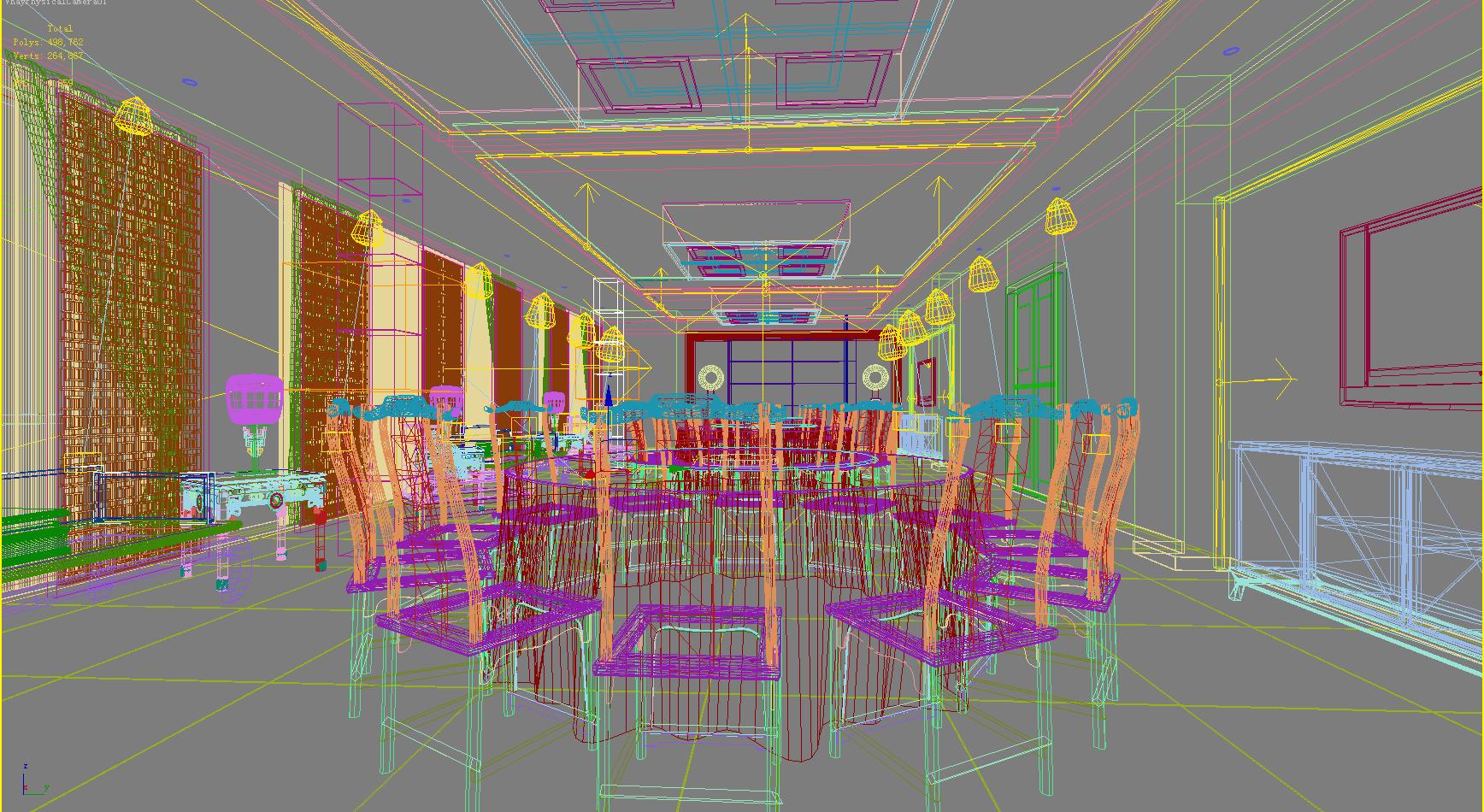 restaurant 114 3d model max 137815