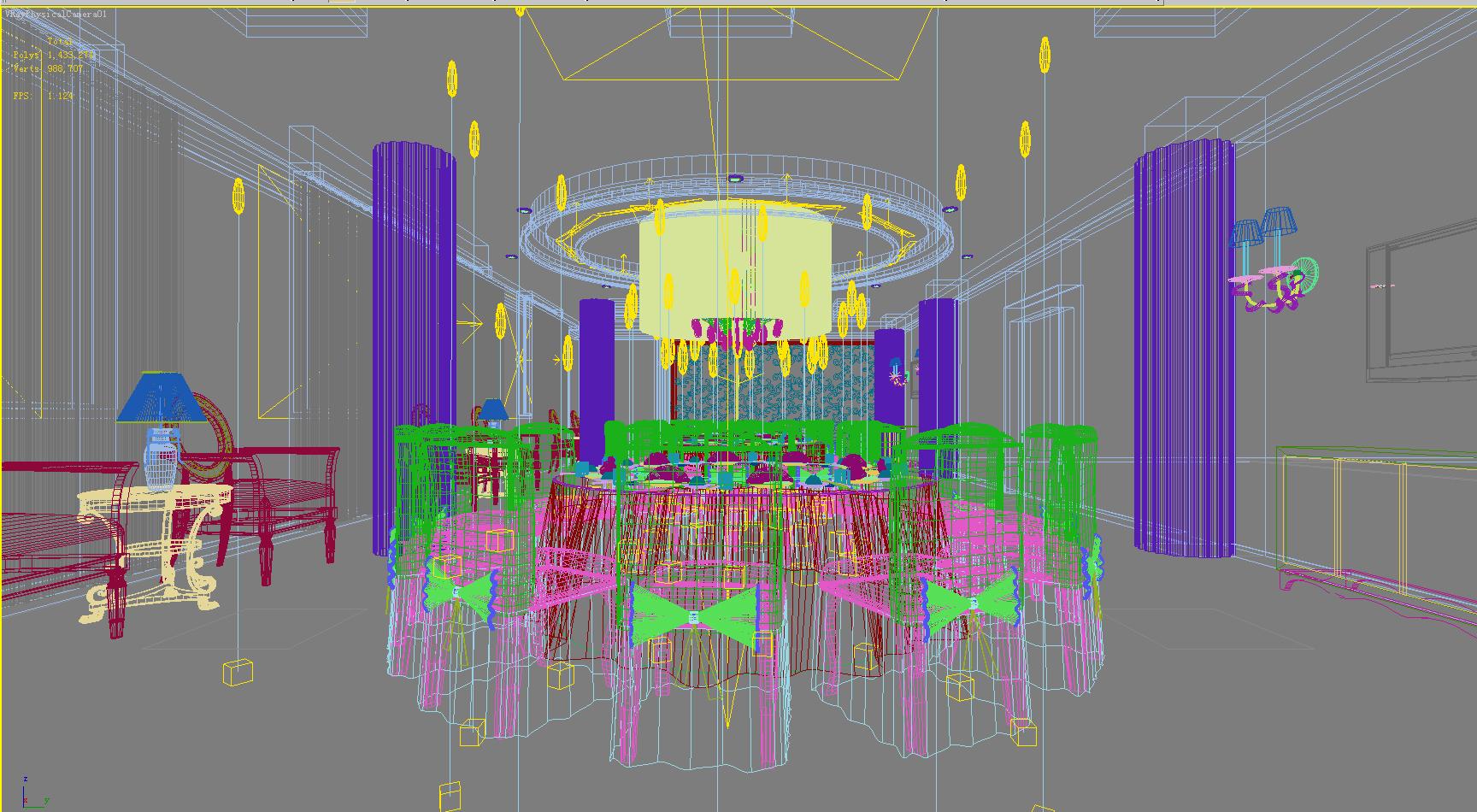 restaurant 117 3d model max 137821