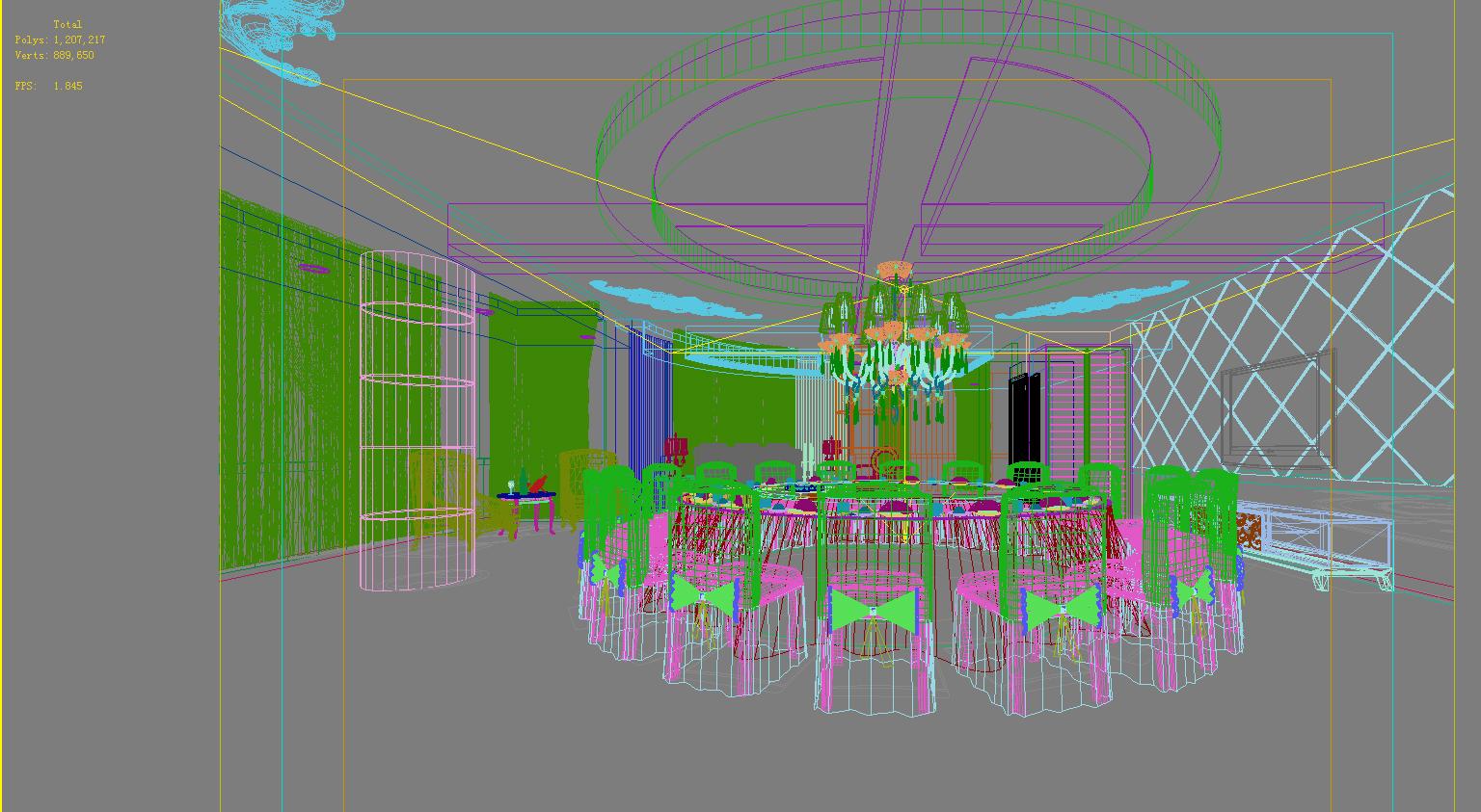 restaurant 118 3d model max 137823