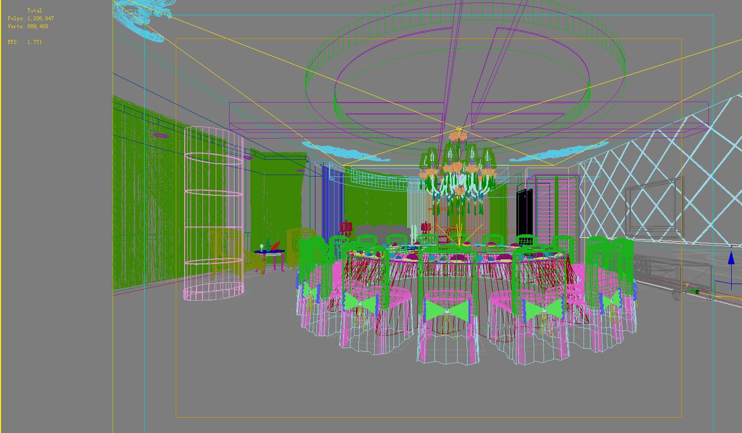 restaurant 119 3d model max 137825