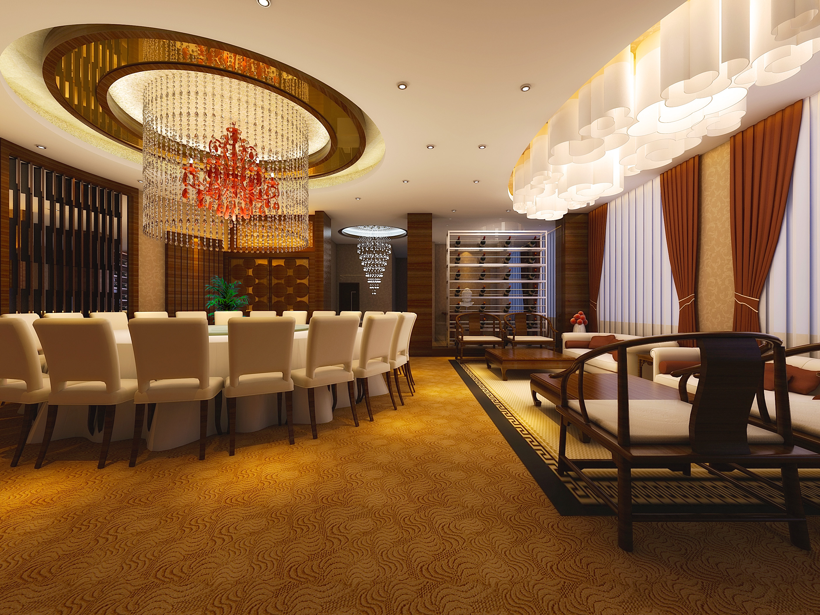 restaurant 143 3d model max 137885