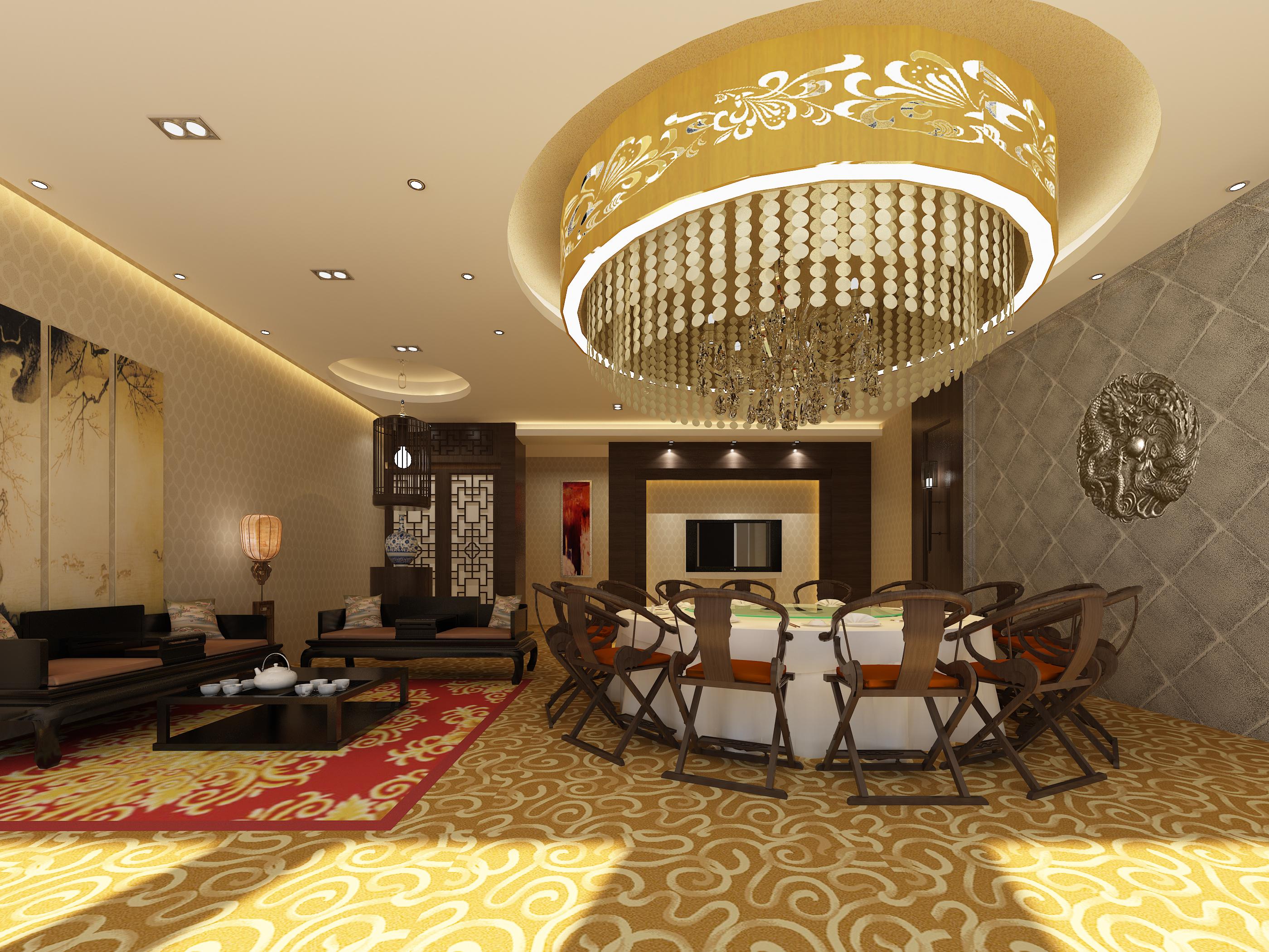 restaurant 144 3d model max 137887