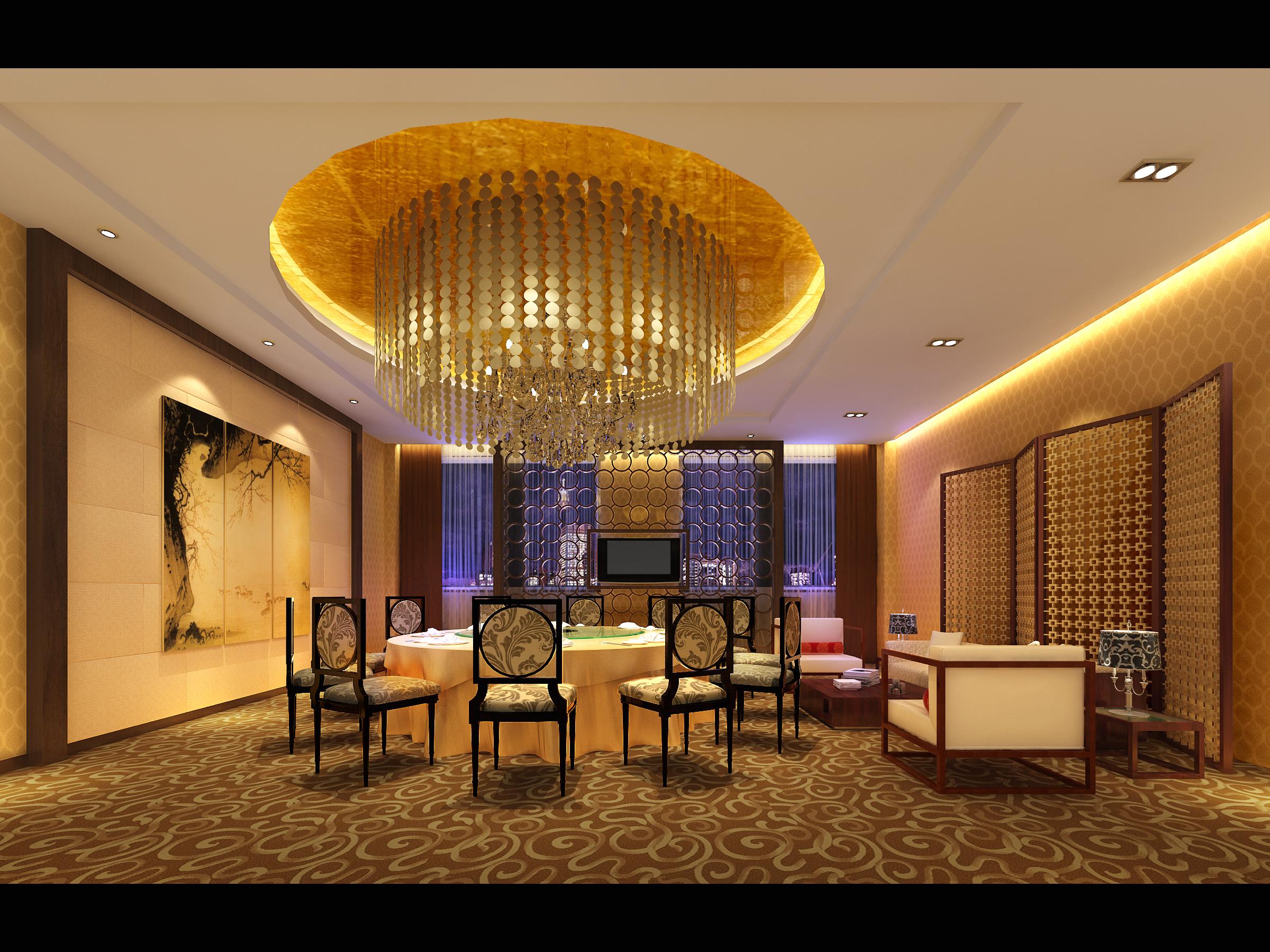 restaurant 145 3d model max 137889