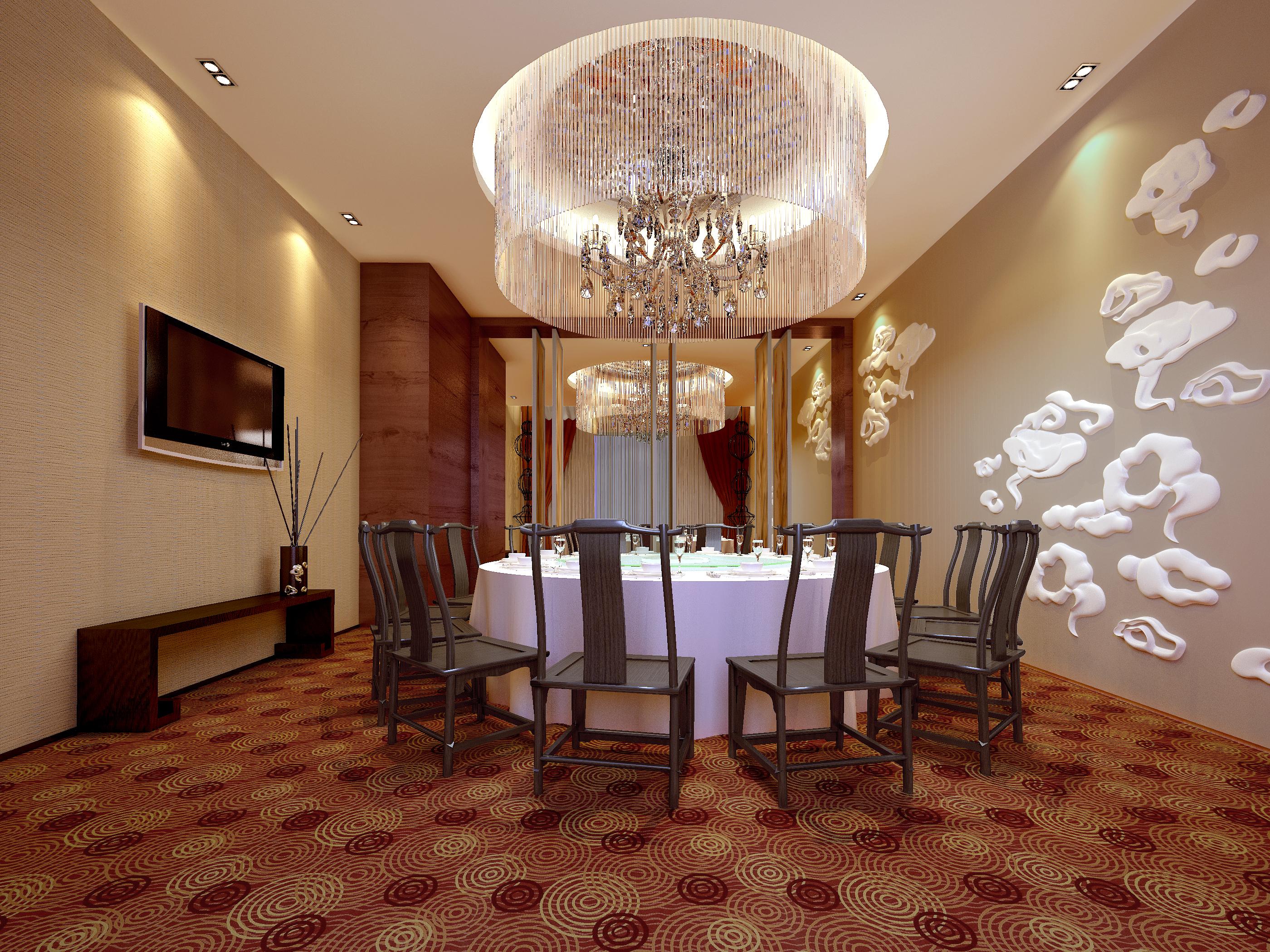 restaurant 150 3d model max 137899