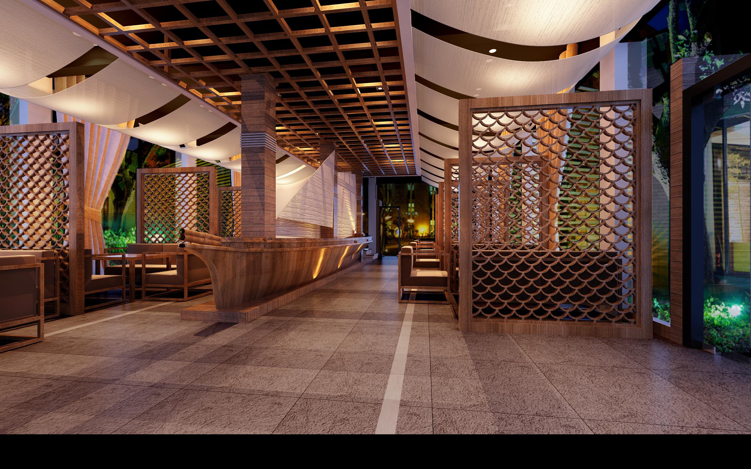 restaurant 151 3d model max 137901