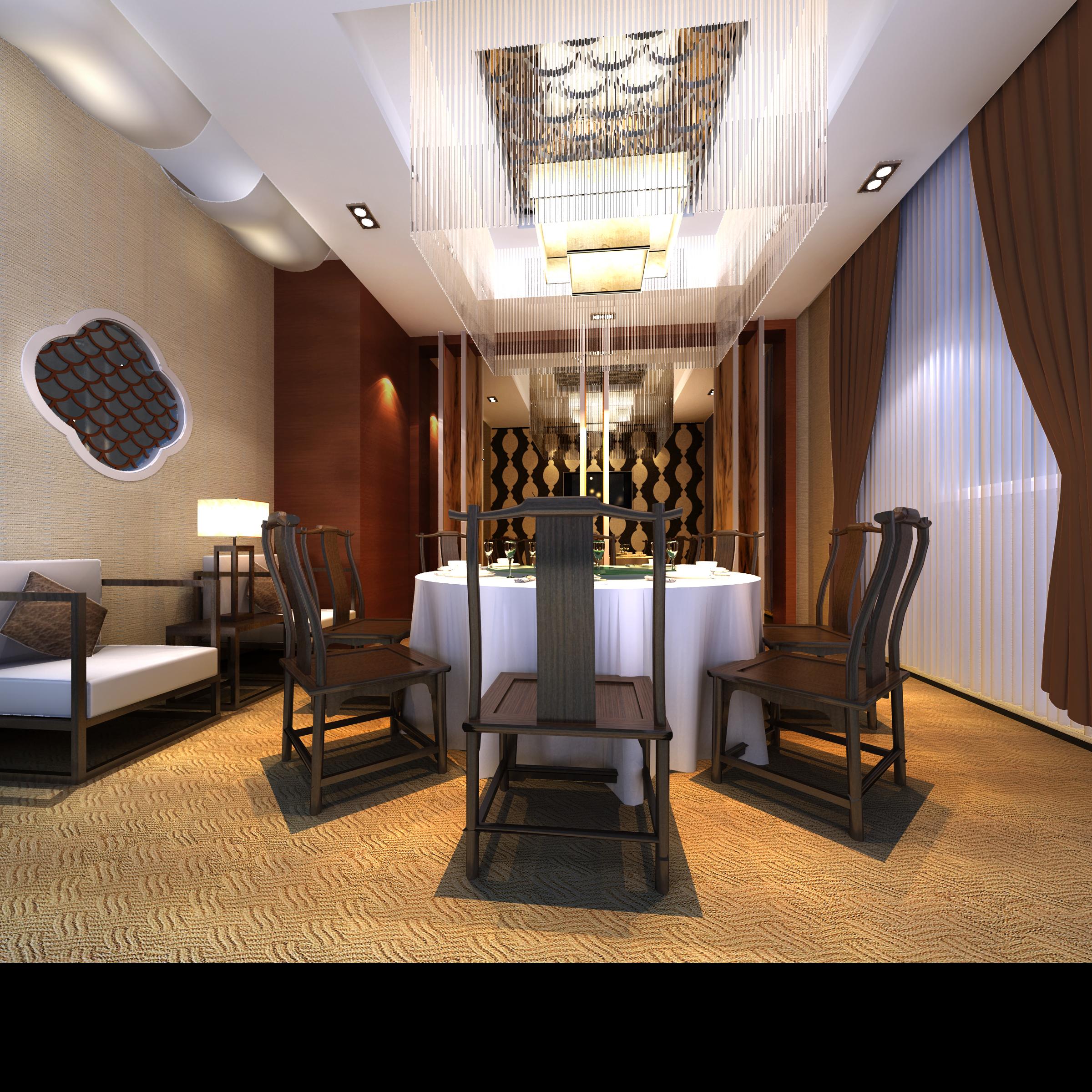 restaurant 152 3d model max 137903