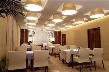 restaurant detailed interior 027 3d model 3ds max 83101