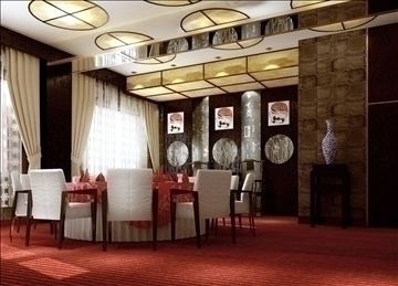 restaurant interior 015 3d model 3ds max 83079