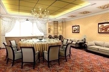 restaurant interior 025 3d model 3ds max 83097