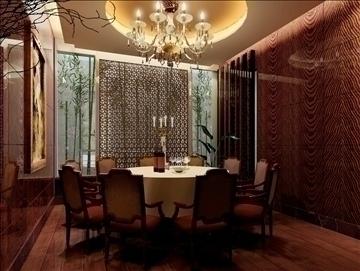restaurant interior scene 028 3d model 3ds max 83103