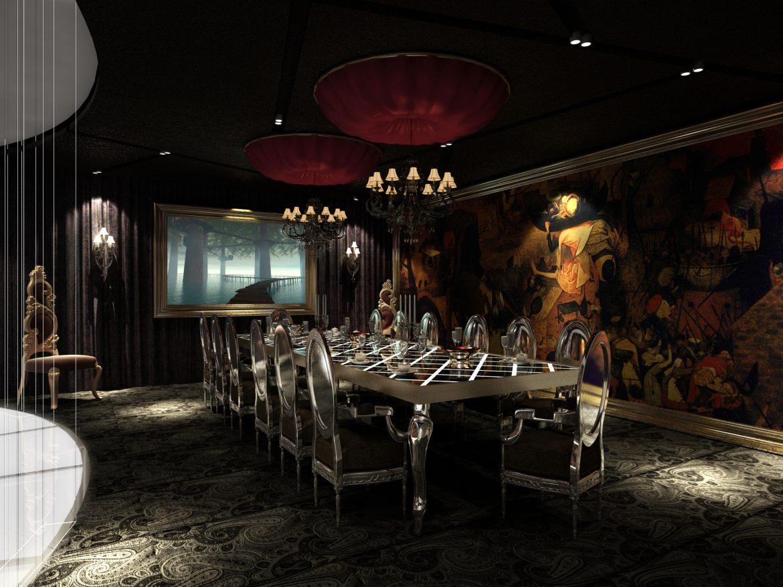 restoran scena 03 3d model max 145308