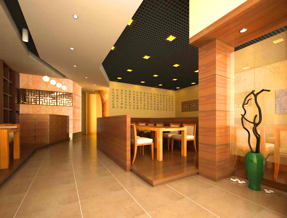 Restaurant 010 3d model buy restaurant 010 3d model for Interieur 010
