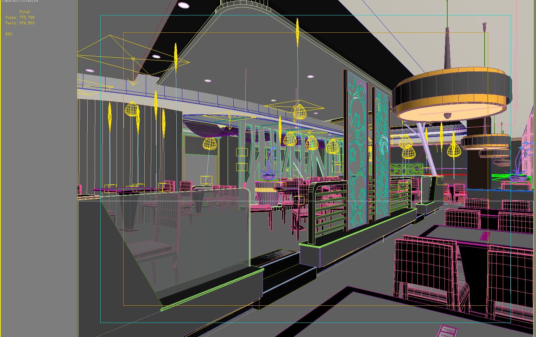 Restaurant d model flatpyramid