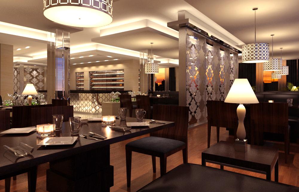 Restaurant Interior Model : Restaurant d model flatpyramid