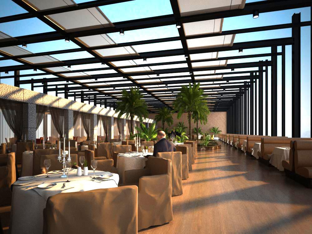 Restaurant 100 3d model buy restaurant 100 3d model for Restaurant 3d max