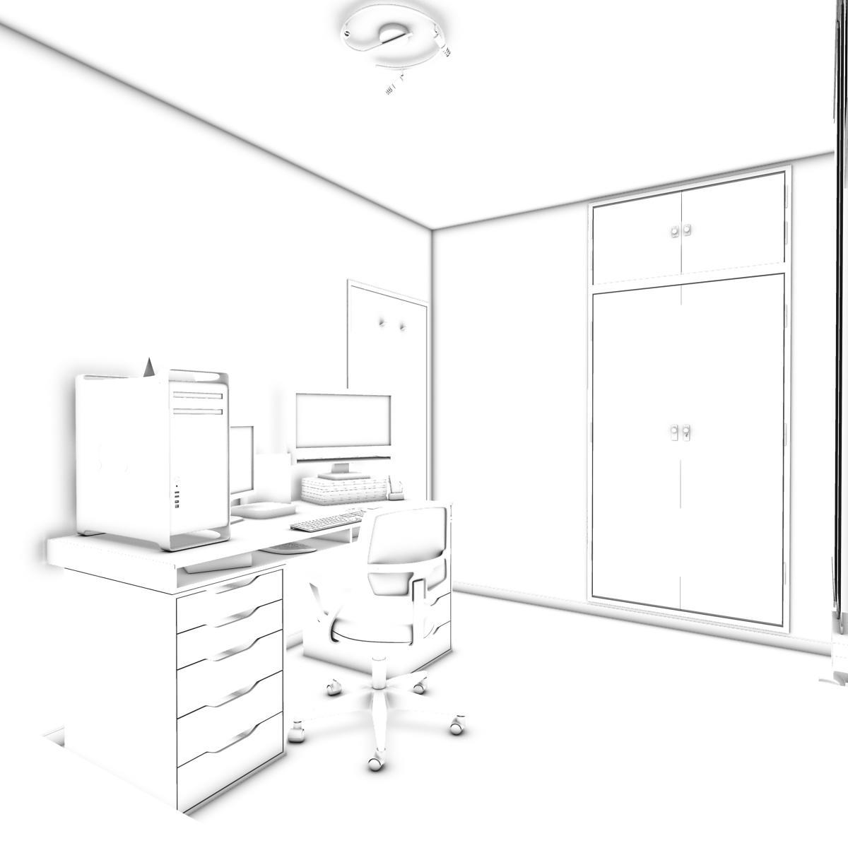room 3d model 3ds max fbx c4d ma mb obj 159591