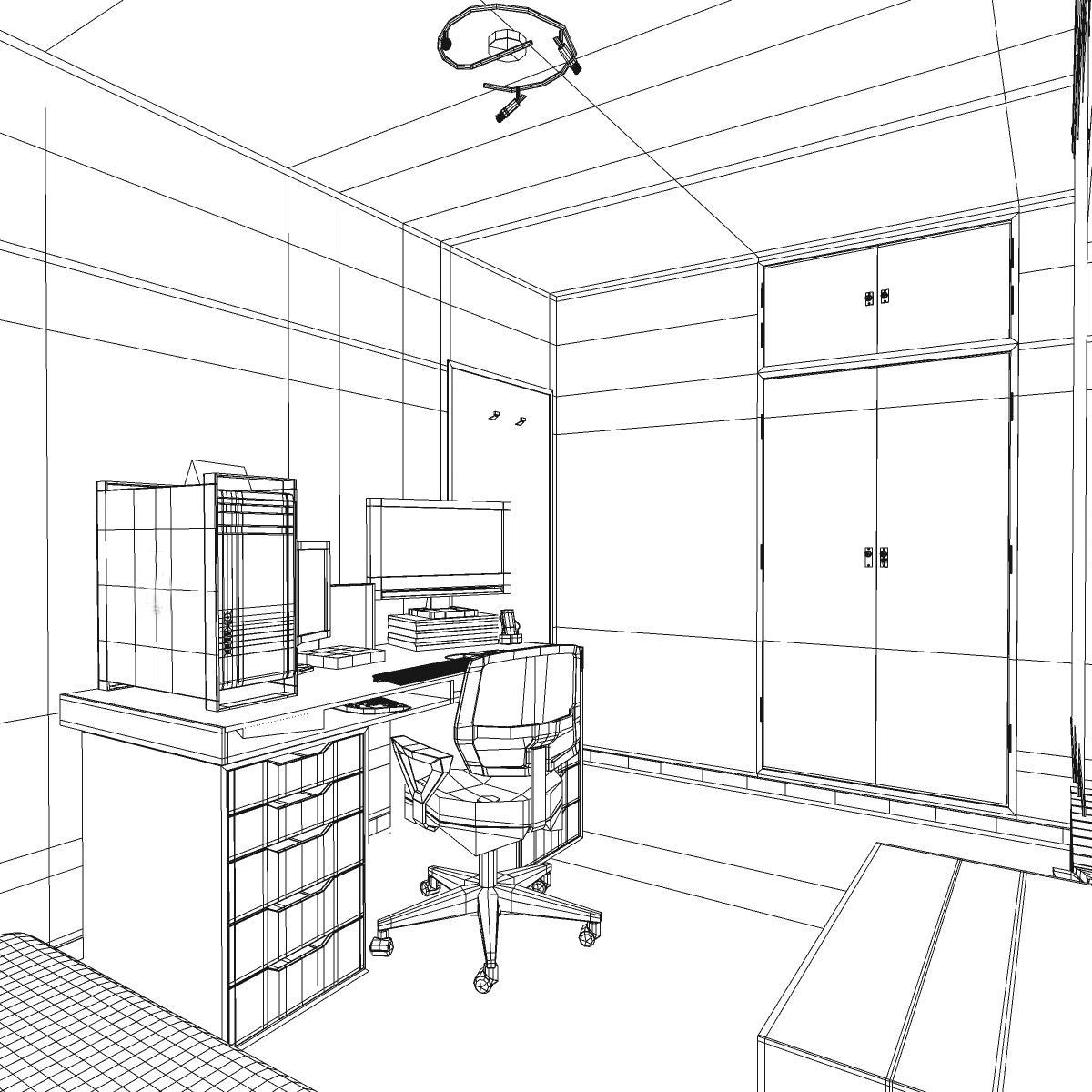 room 3d model 3ds max fbx c4d ma mb obj 159594
