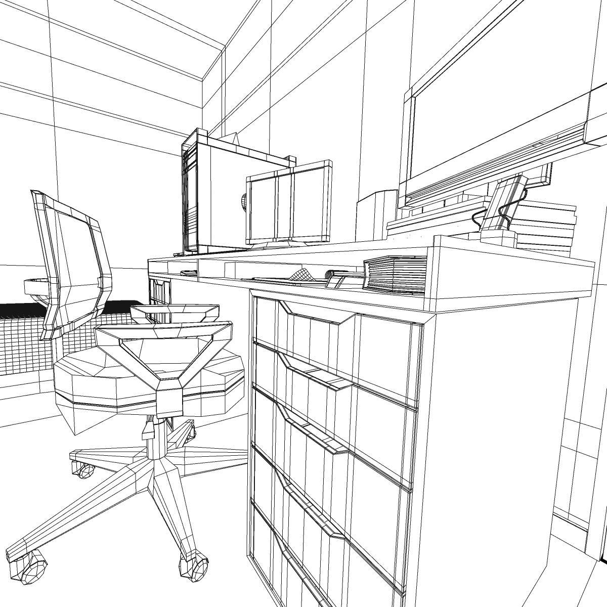 room 3d model 3ds max fbx c4d ma mb obj 159595
