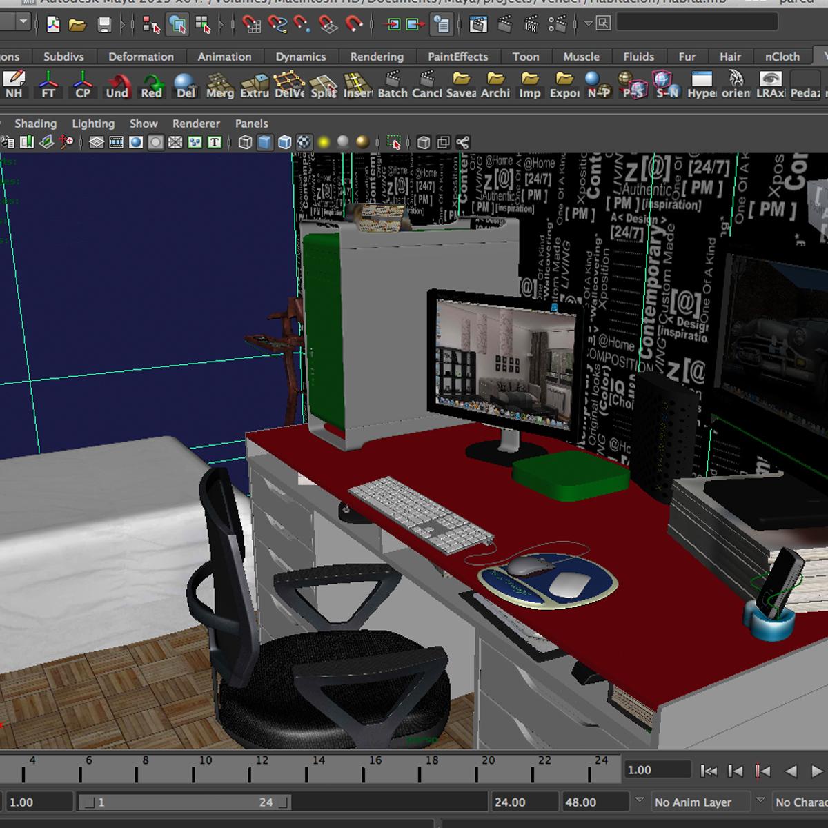 room 3d model 3ds max fbx c4d ma mb obj 159600