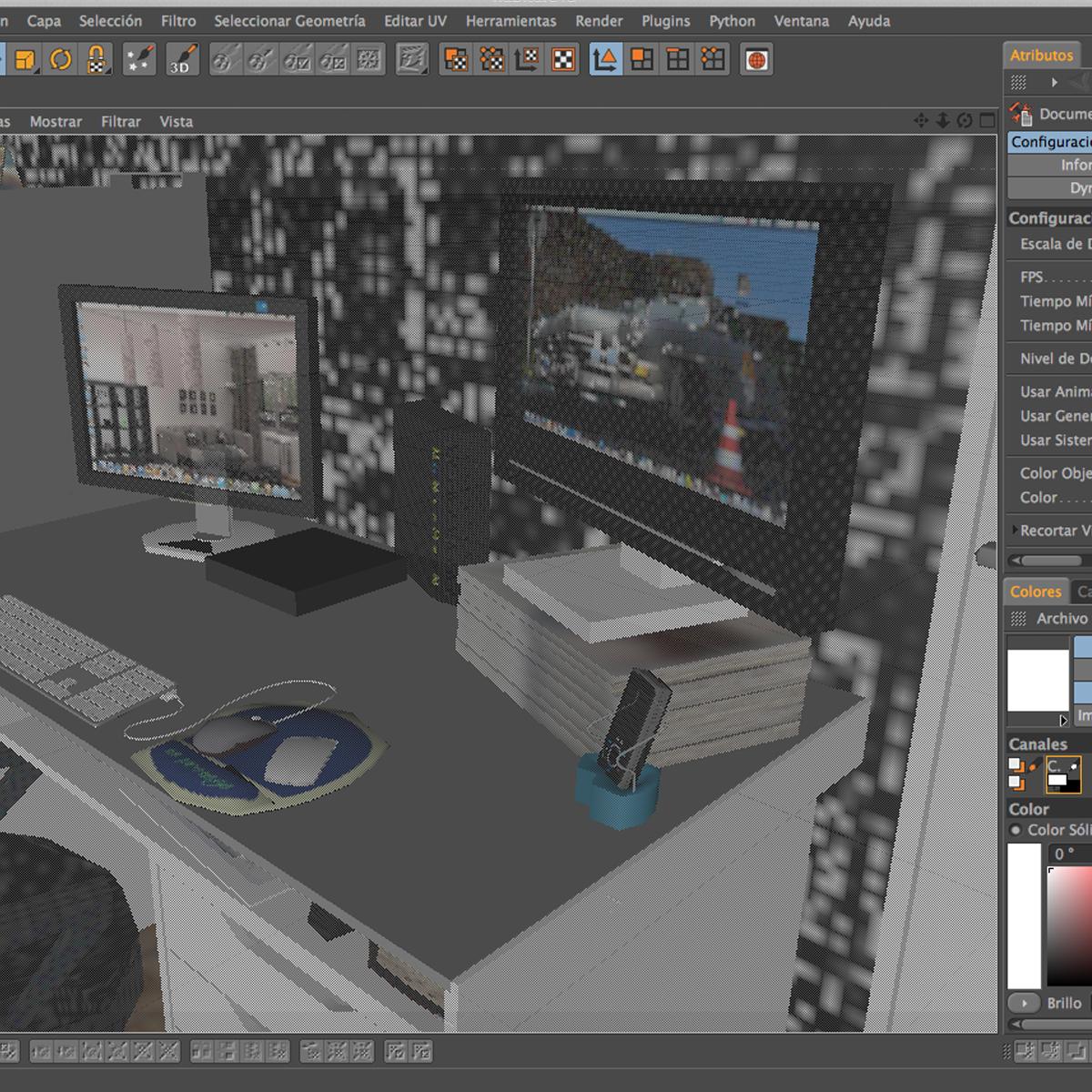 room 3d model 3ds max fbx c4d ma mb obj 159601