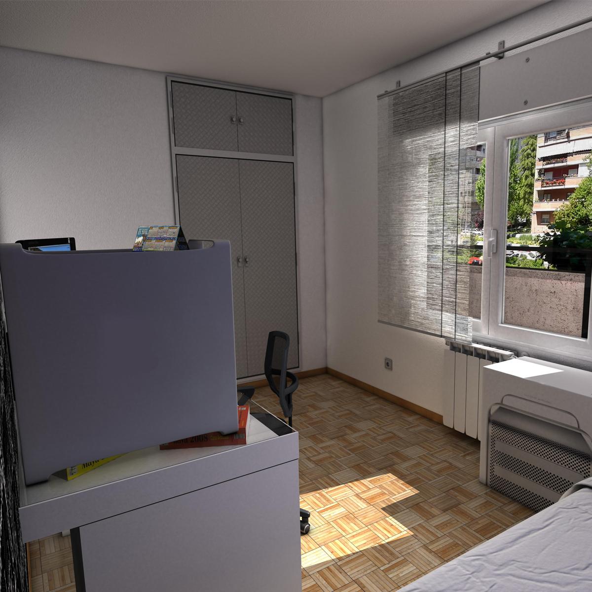 room 3d model interior radiator 3ds max fbx c4d ma mb obj