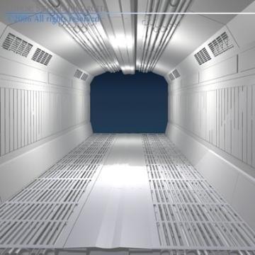 zinātniskās fantastikas koridors 3d modelis 3ds dxf obj 77453
