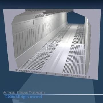 zinātniskās fantastikas koridors 3d modelis 3ds dxf obj 77454