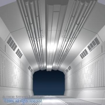 zinātniskās fantastikas koridors 3d modelis 3ds dxf obj 77455