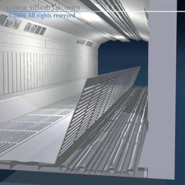zinātniskās fantastikas koridors 3d modelis 3ds dxf obj 77456