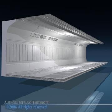 zinātniskās fantastikas koridors 3d modelis 3ds dxf obj 77458