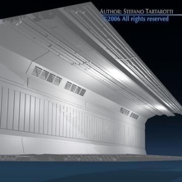 zinātniskās fantastikas koridors 3d modelis 3ds dxf obj 77459