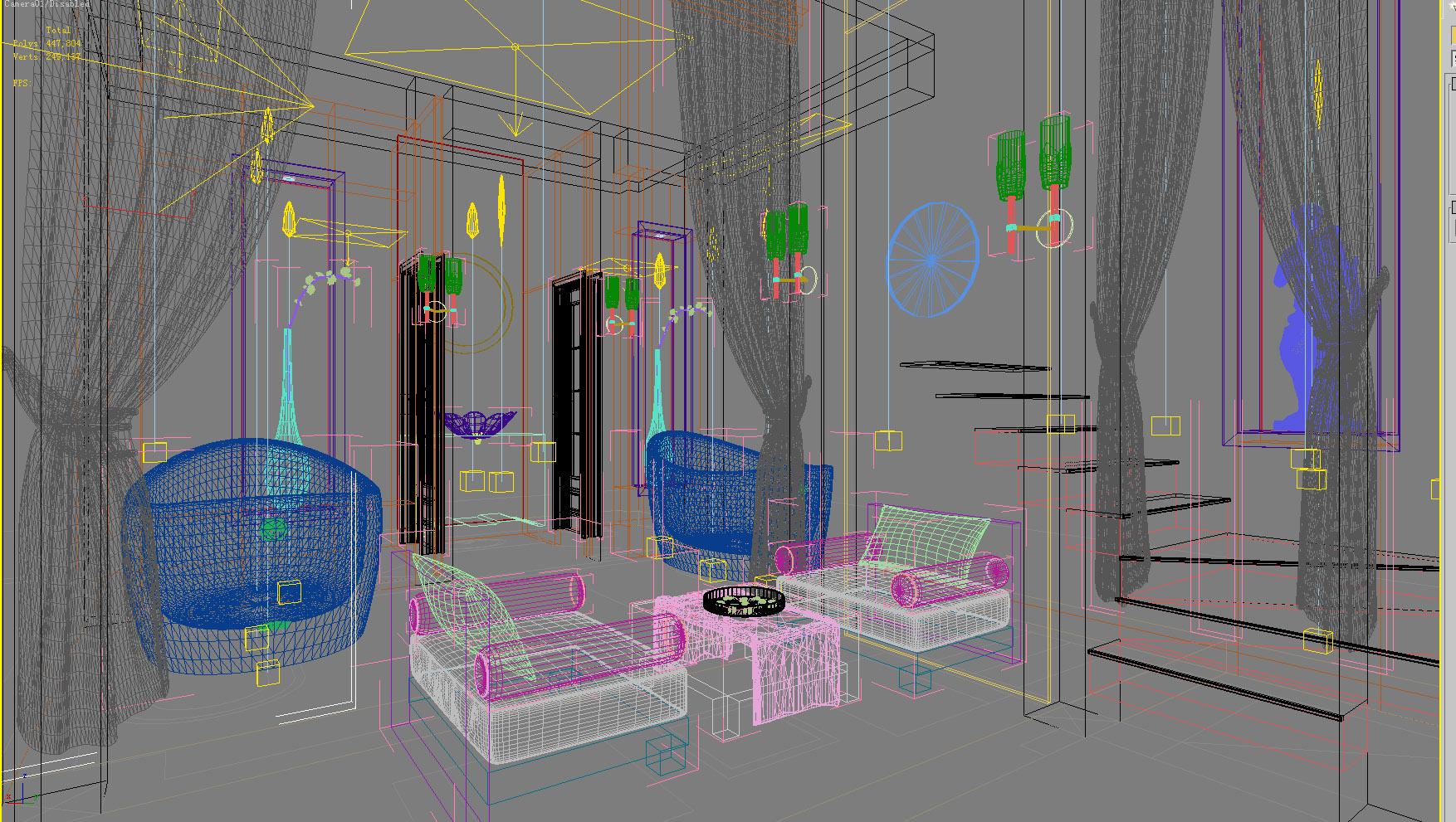 spa room 007 3d model max 137934