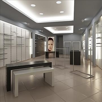 store interior scene render ready 3d model 3ds max dxf dwg fbx c4d lwo skp obj 111932