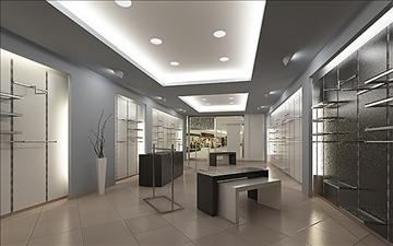 store interior scene render ready 3d model 3ds max dxf dwg fbx c4d lwo skp obj 111933