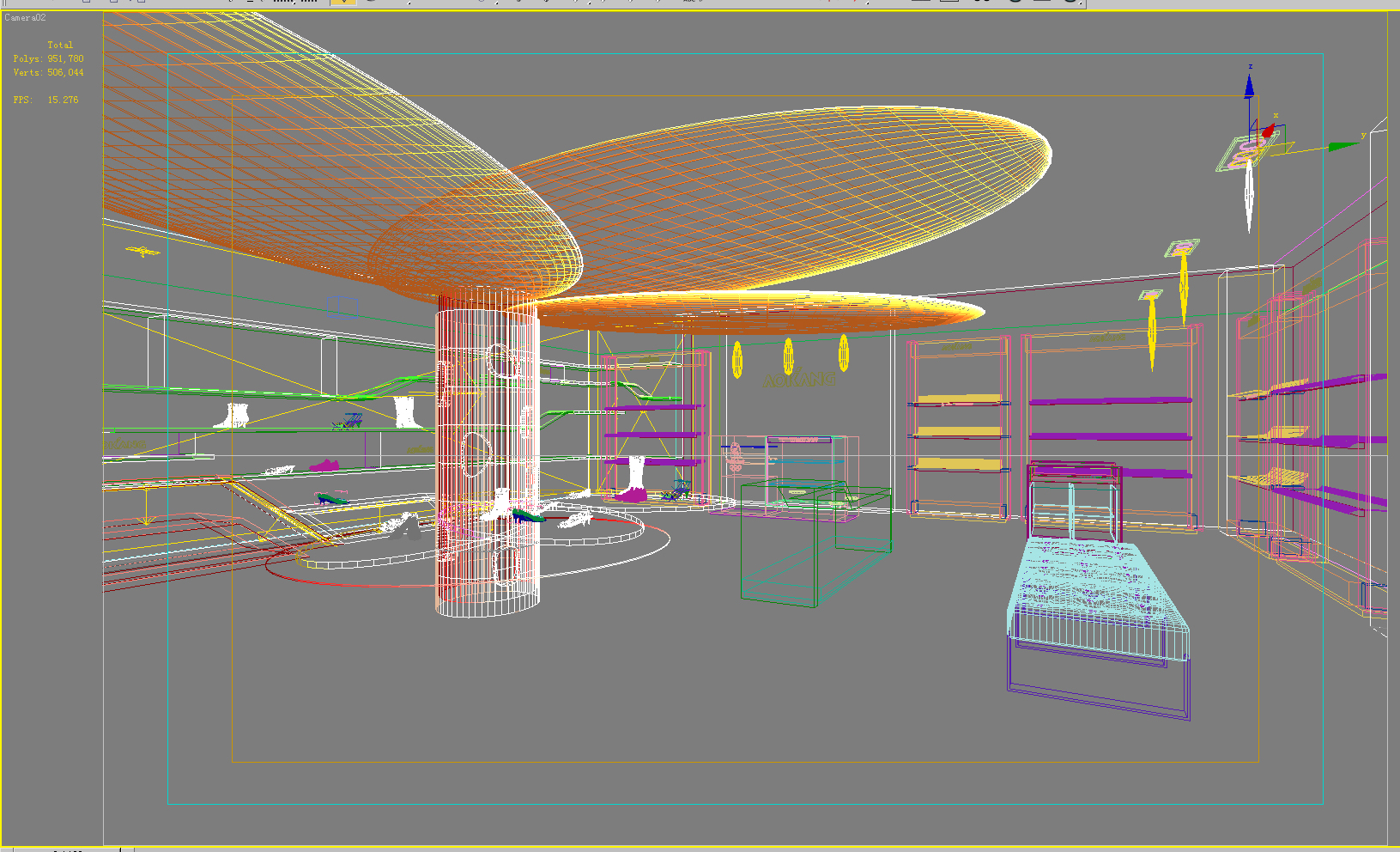 store space 011 3d model max 122252