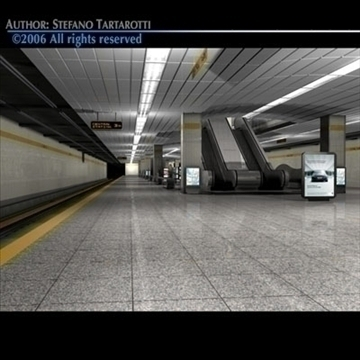 subway station 3d model 3ds dxf c4d obj 84639