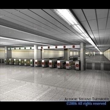 subway station with train 3d model 3ds dxf c4d obj 84657