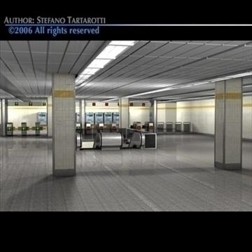 subway station with train 3d model 3ds dxf c4d obj 84658