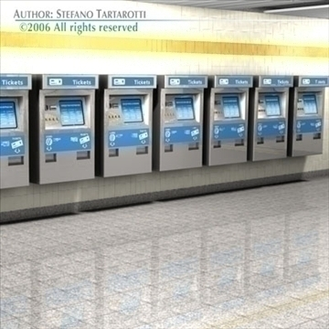 subway station with train 3d model 3ds dxf c4d obj 84659