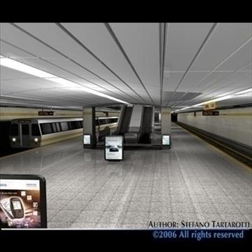 subway station with train 3d model 3ds dxf c4d obj 84661